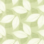 Moda Aria by Kate Spain - 4556 - White Leaves on Pale Green  - 27233 18 - Cotton Fabric